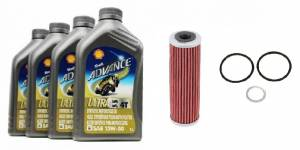 Shell - Shell Advance 4T 15W50 Ultra Synthetic Oil Change Kit: Ducati Panigale Series - Image 1