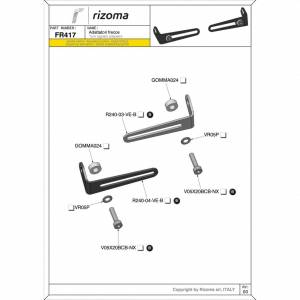 RIZOMA - RIZOMA Turnsignal adapter Adapter: Ducati Hyper 821 - Image 1