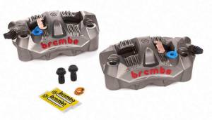 "Brembo - BREMBO Cast Monobloc GP4-RS Caliper Set:108mm ""Radial Mount"" [Including Pads] - Image 1"