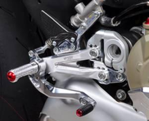 Bonamici Racing - Bonamici Adjustable Billet Rearsets: Ducati Streetfighter V4/S [Black Only] - Image 1