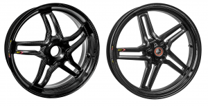 "BST Wheels - BST Rapid Tek Carbon Fiber 5 Split Spoke Wheel Set: Ducati Panigale 1199-1299-V4-V2, SF V4 [5.5"" Rear] - Image 1"