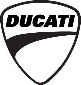 Ducati Shield Sticker: 4 inch