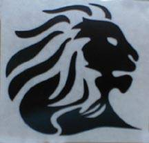 "Stickers - Aprilia Lion Head Sticker: 4""  White - Image 1"