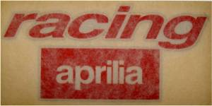 Racing Aprilia Sticker-Small