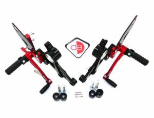 Ducabike - Ducabike Adjustable Rear Sets: M696 / M796 / M1100 - M1100 EVO [Folding Pegs/CF Heel guards] - Image 1