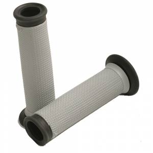 Renthal - RENTHAL ROAD RACE DUAL COMPOUND GRIP - GREY/BLACK
