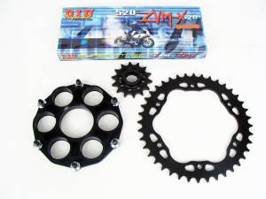 SUPERLITE - SUPERLITE Quick Change Longevity Kit [525 Chain/Sprocket]: Ducati 1098-1198, SF, Diavel, MTS 1200-1260 - Image 1