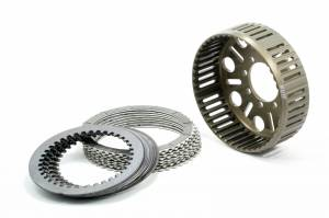 EVR - EVR Ducati 48T Organic Plates & Clutch Basket Set: Slipper Clutch Replacement [36.5mm Stack Height]