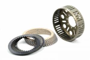 EVR - EVR Ducati 48T Sintered Plates & Clutch Basket Set: 748-998 / 749-999 / MH900e / M900-1000 / S2R / S4R / MTS1000 / SC / ST / SS / ST4-S