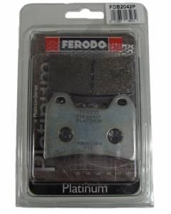 Ferodo - FERODO PLATINUM Front Organic Brake Pads: Brembo Dual Pin[Single Pack] - Image 1