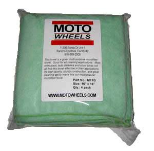 Motowheels - MW Micro-Fiber Towel: 4 pack