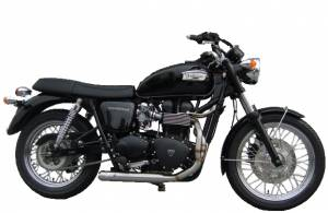 Zard - ZARD Low Mount Cross 2-1 SS/SS Full System: Triumph Bonneville Injected