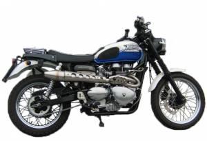 Zard - ZARD High Mount 2-1 SS/SS Full System: Triumph Scrambler Carburetor