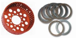 STM - STM Ducati 48T Plates & Clutch Basket Set: Slipper Clutch Replacement [36.5mm Stack Height]