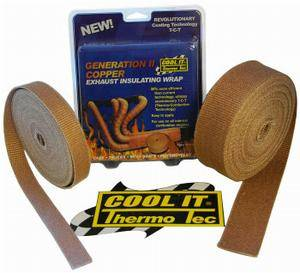 Thermo Tec - THERMO-TEC Exhaust Insulating Wrap: Copper 1 inch - Image 1