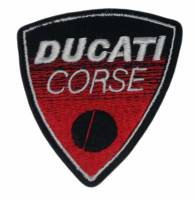 Stickers, Patches, & Toys - Patches - Patches - Ducati Corse Shield Patch