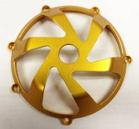 Returns, Used, & Closeout  - Closeout Parts - Oberon - OBERON Vortex Ducati Clutch Cover - Gold