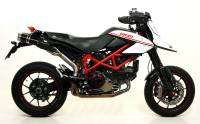 ARROW Street Thunder Short Titanium Slip-ons w/ Carbon Fiber End Caps: Hypermotard 1100