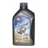 Tools, Stands, Supplies, & Fluids - Fluids - Shell - Shell Advance 4T Ultra 15W-50 Synthetic Oil [Liter]