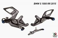 Hand & Foot Controls - Foot  Controls - Bonamici Racing - Bonamici Adjustable Billet Rearsets: BMW S1000 RR  2015+