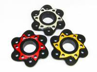 Drive Train - Sprocket Hub Covers - Ducabike - Ducabike Billet Sprocket Hub Cover: [6 Hole- Black Base + Color]