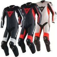 Men's Apparel - Men's Leather Suits - DAINESE - DAINESE D Air Racing Misano Perforated One-Piece Leather Suit