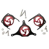 SPEEDYMOTO Leggero Belt Cover Replacement Domes [Set of 3 Domes without Bases]