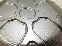 SPEEDYMOTO Wet Clutch Cover: Ten Spoke - Clear, Mildly Blemished
