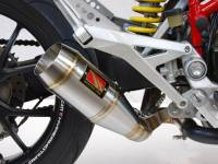 Competition Werkes GP Slip-On Exhaust  W/Fender Eliminator: Hypermotard 1100/1100 EVO