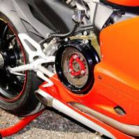 Ducabike Clear Wet Clutch Cover/Pressure Plate Ring Combo: Ducati Panigale 1199/1299/959