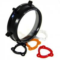 Clutch - Clutch Assemblies - Ducabike - Ducabike Clear Wet Clutch Cover/Pressure Plate Ring Combo: Ducati Panigale 1199/1299/959