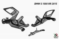 Hand & Foot Controls - Foot  Controls - Bonamici Racing - Bonamici Adjustable Billet Rearsets: BMW S1000 RR  2015 / 2016