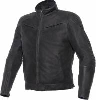 Men's Apparel - Men's Leather Jackets - DAINESE Closeout  - DAINESE Black Hawk Jacket