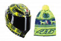 Helmets & Accessories - Helmets - AGV - AGV Corsa Valentino Rossi Winter Test 2015 Limited Edition Helmet (Ugly Sweater)