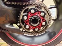Ducabike Billet Sprocket Hub Cover: [6 Hole- Black Base + Color]