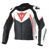 DAINESE Closeout  - DAINESE Avro D1 Jacket [White/Black/Fl-Red] Last call, No return or exchange accepted!