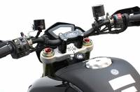STM Reservoir: Brake 40cc /90 degree bottom mount Black only
