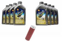 Tools, Stands, Supplies, & Fluids - Fluids - Shell - Ducati Oil Change Kit: Shell Advance 4T Ultra 10W-40 or 15W-50 Synthetic Oil & K&N Oil Filter [PANIGALE series Only]