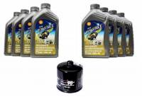 Tools, Stands, Supplies, & Fluids - Fluids - Shell - Ducati Oil Change Kit: Shell Advance 4T Ultra 10W-40 or 15W-50 Synthetic Oil & K&N Oil Filter [Except PANIGALE]