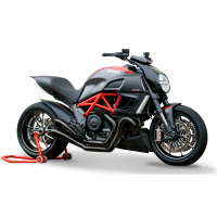 HP Corse - HP Corse Hydroform Dual 2-2 Slip-On Exhaust System [Factory Line Version]: Diavel - Image 3