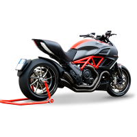 HP Corse - HP Corse Hydroform Dual 2-2 Slip-On Exhaust System [Factory Line Version]: Diavel - Image 4