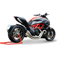 HP Corse - HP Corse Hydroform Dual 2-2 Slip-On Exhaust System [Factory Line Version]: Diavel - Image 2
