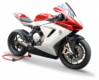 HP Corse - HP CORSE HYDROFORM STAINLESS SATIN Slip-On exhaust : MV AGUSTA F3 675 / 800 - Image 1