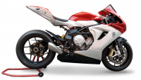 HP Corse - HP CORSE HYDROFORM STAINLESS SATIN Slip-On exhaust : MV AGUSTA F3 675 / 800 - Image 2