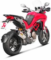 "Akrapovic Titanium Slip-On Exhaust ""HHX2T"" : Ducati Multistrada 1200 15-17"