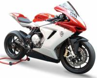 HP CORSE HYDROFORM  BLACK COATED STAINLESS Slip-On exhaust : MV AGUSTA F3 675 / 800