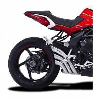 Exhaust - Full Systems - HP Corse - HP CORSEHYDROTRE SATIN STEEL SLIP ON EXHAUST: MV AGUSTA BRUTALE 800RR [STEEL COVER]