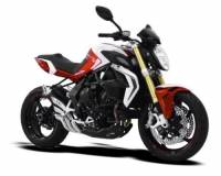 HP CORSE HYDROTRE SATIN STEEL SLIP ON EXHAUST: MV AGUSTA BRUTALE 800RR [STEEL COVER]