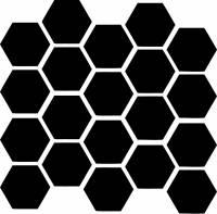 Motowheels - Motowheels Reflective Sticker: Safety Hex