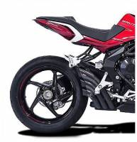 HP CORSE HYDROTRE BLACK CERAMIC COATED STEEL SLIP ON EXHAUST: MV AGUSTA BRUTALE 800RR